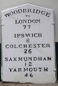 The Milestone in Woodbridge's Thoroughfare