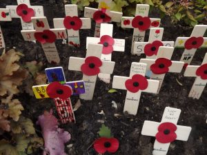 Woodbridge children make memorial crosses for every ne of our soldiers killed in WW1