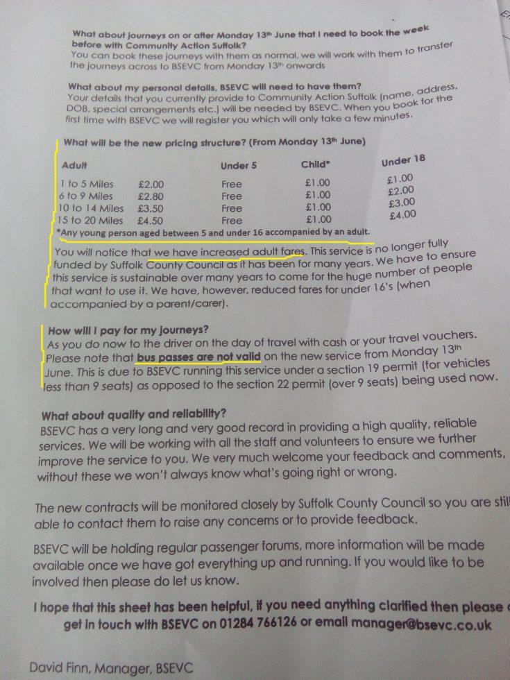 What price SCC's new Community Bus service? A lot it seems
